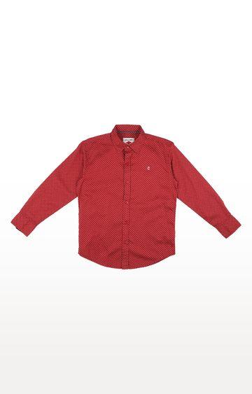 Gini & Jony | Red Printed Shirt