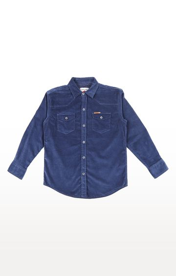 Gini & Jony | Blue Solid Shirt