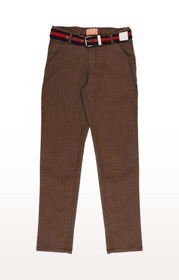 Gini & Jony | Brown Printed Trousers