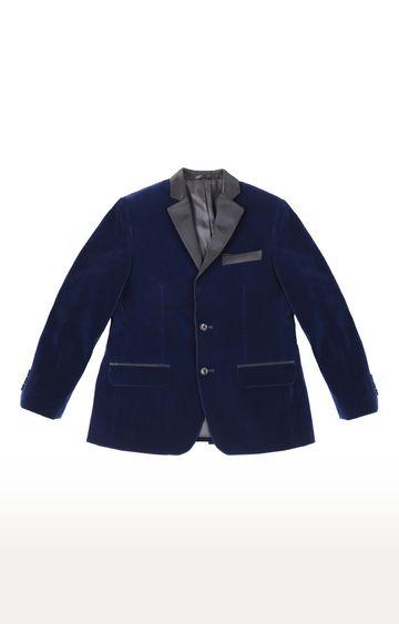 Gini & Jony | Blue Solid Blazer