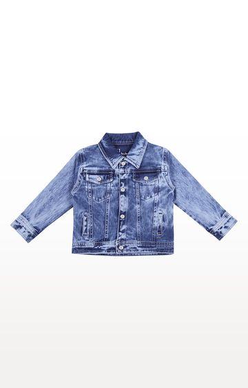 Gini & Jony | Blue Solid Woven Jacket