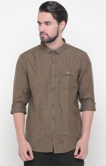 Showoff | Khaki Printed Casual Shirt