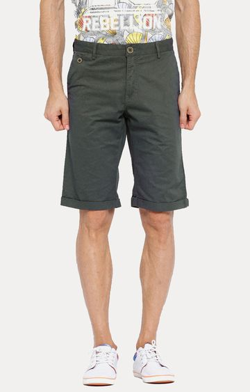 Showoff | Charcoal Solid Shorts