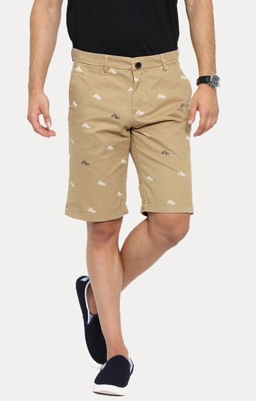Showoff | Khaki Printed Shorts