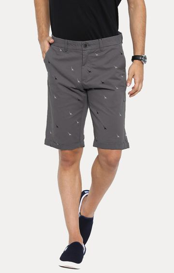 Showoff | Grey Printed Shorts