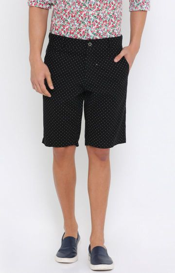Showoff | Black Printed Shorts