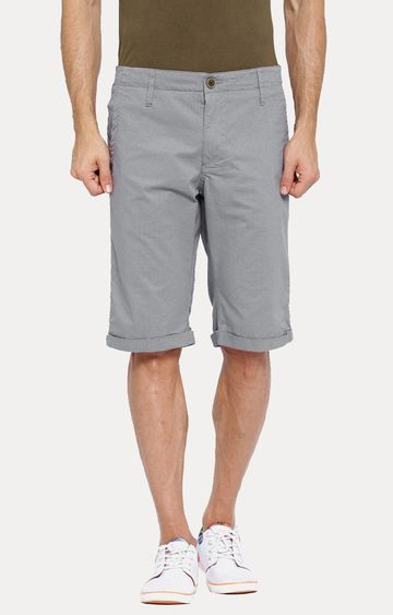 Showoff | Grey Solid Shorts