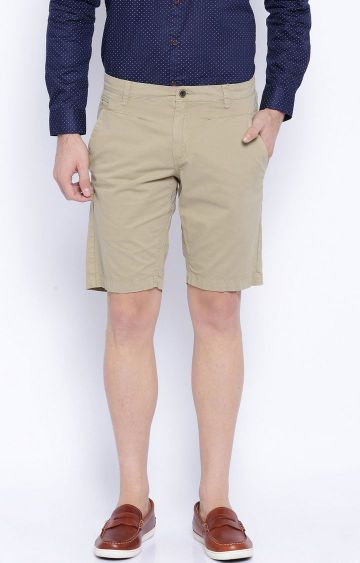 Showoff | Khaki Solid Shorts