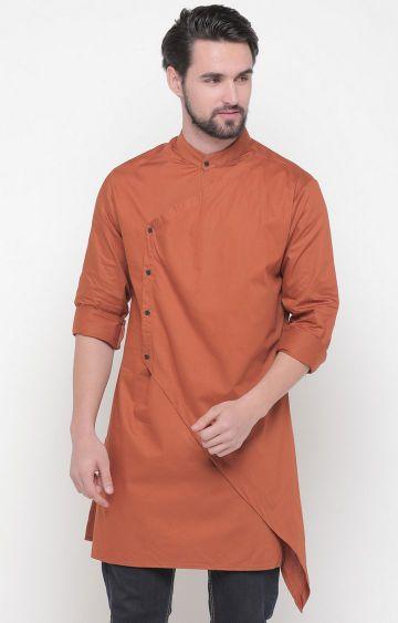 Showoff | Brown Solid Kurta
