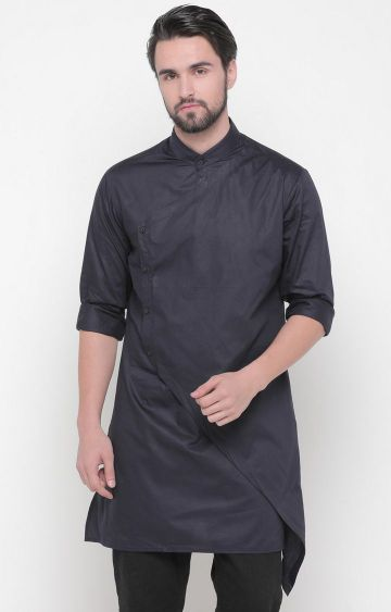 Showoff | Navy Solid Kurta