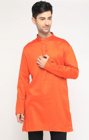 Showoff | Orange Solid Kurta