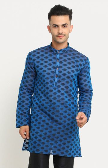 Showoff | Blue Printed Kurta