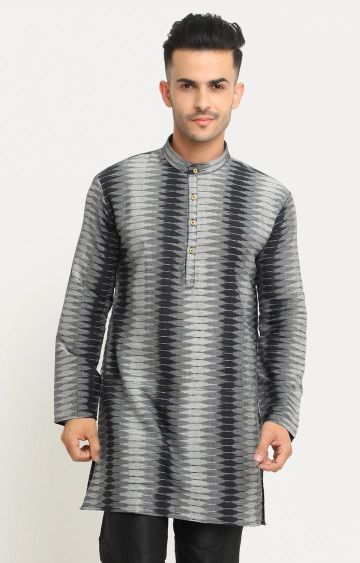 Showoff | Grey Printed Kurta