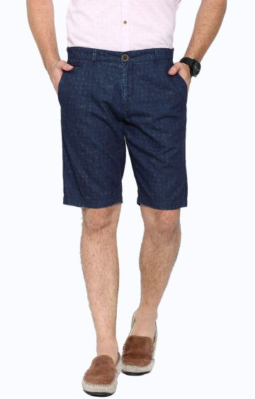 Showoff | Navy Blue Solid Shorts