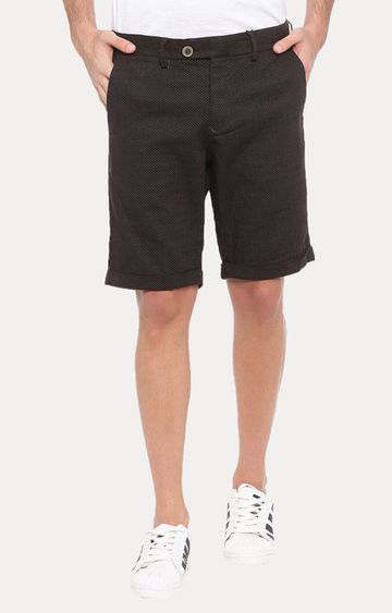 With   Black Solid Shorts