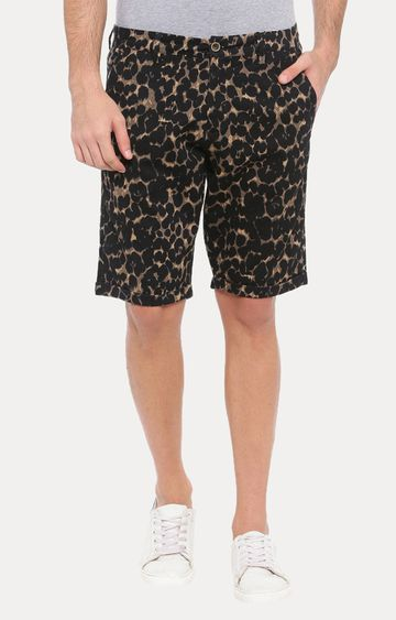 With | Black Camouflage Shorts