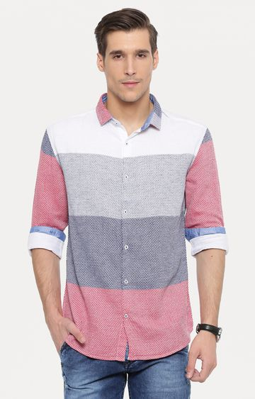 With | Multicoloured Colourblock Casual Shirt