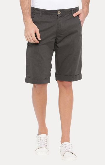 With   Grey Solid Shorts