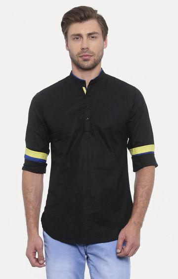 With | Black Solid Casual Shirt