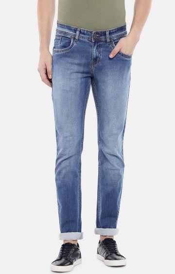 globus | Blue Mid Rise Slim Fit Jeans
