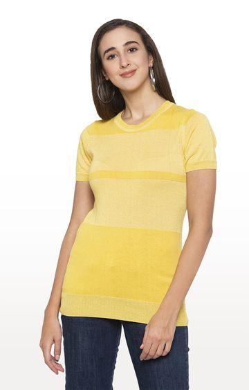globus | Yellow Melange Top