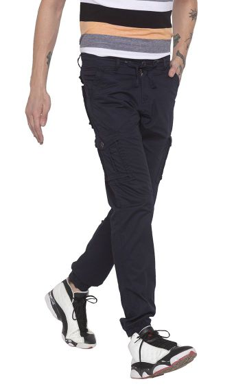 globus | Blue Solid Casual Joggers