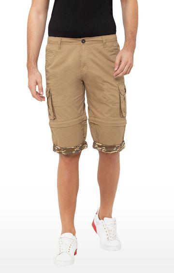 globus   Khaki Solid Shorts