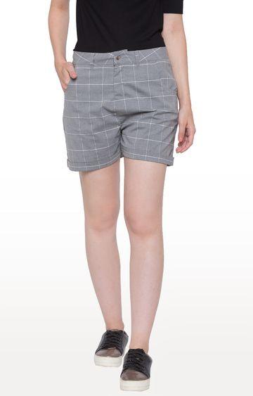 globus | Grey Checked Shorts