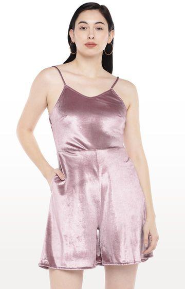 globus | Pink Solid Jumpsuit