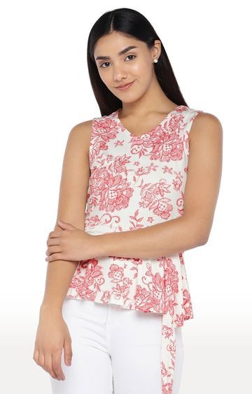 globus | White Floral Top