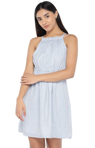 globus | Blue Striped Skater Dress
