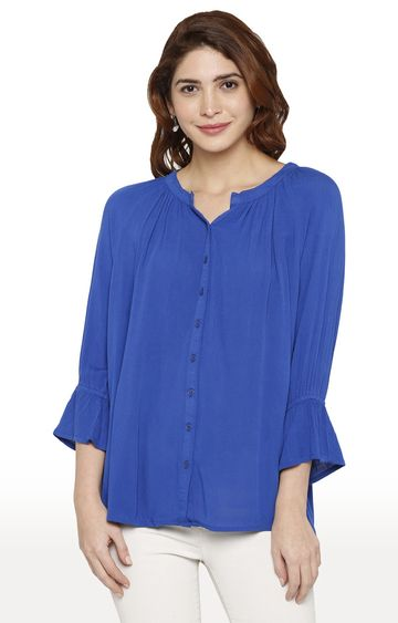 globus | Blue Solid Top
