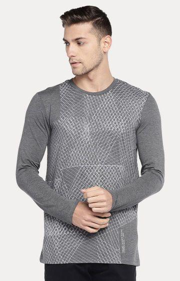 globus   Grey Checked T-Shirt