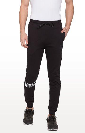 globus | Black Striped Casual Joggers