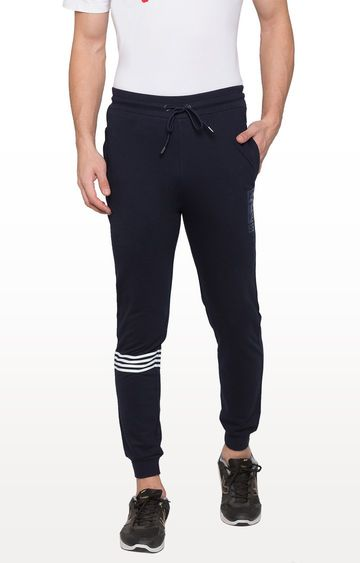 globus | Blue Striped Casual Joggers