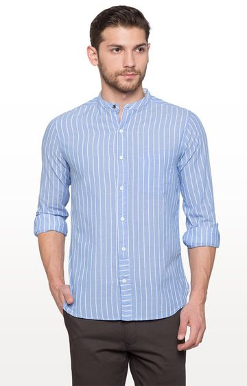 globus | Blue Striped Casual Shirt