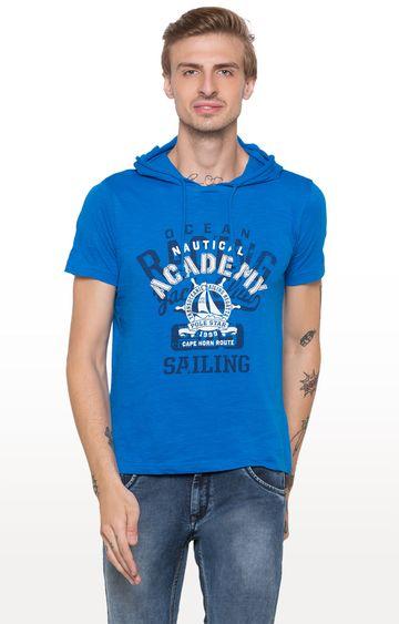 globus | Blue Printed T-Shirt