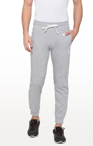 globus | Grey Striped Casual Joggers