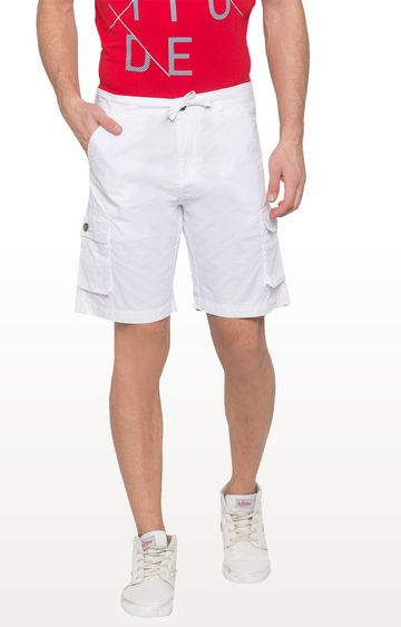 globus | White Solid Shorts