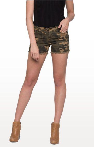 globus | Olive Camouflage Shorts