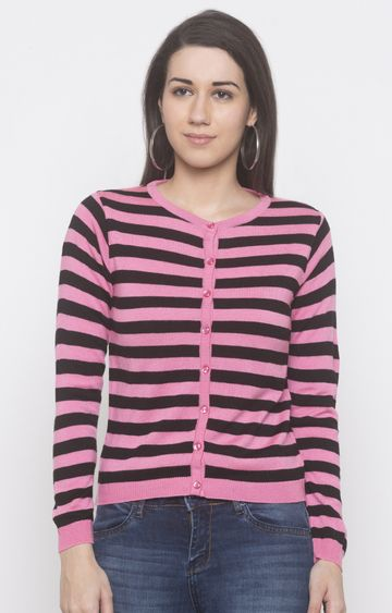 globus | Pink Striped Sweatshirt