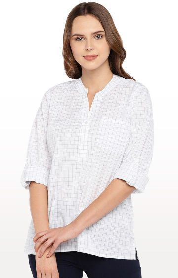 globus   White Solid Top