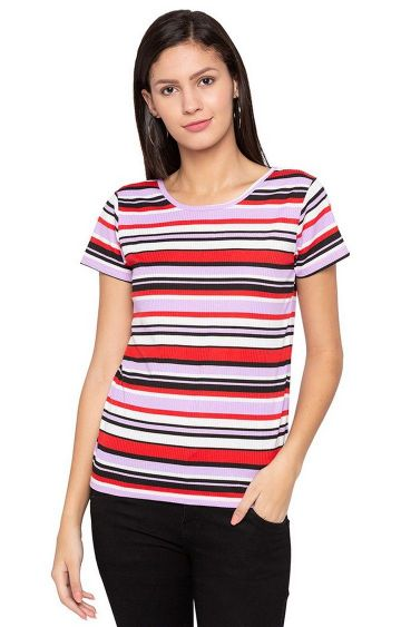 globus | Multicoloured Striped T-Shirt