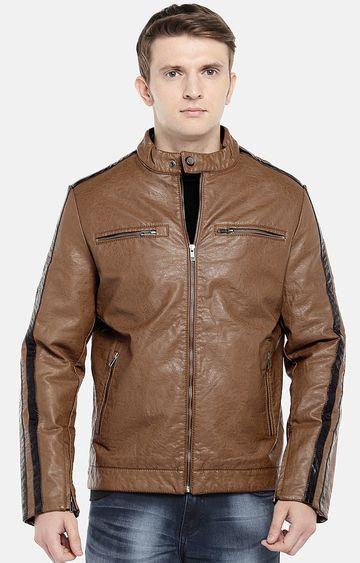 globus | Brown Solid Bomber Jacket