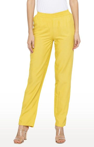 globus | Yellow Straight Chinos