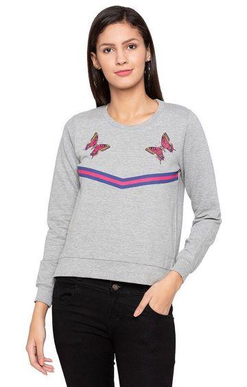 globus | Grey Printed Sweatshirt