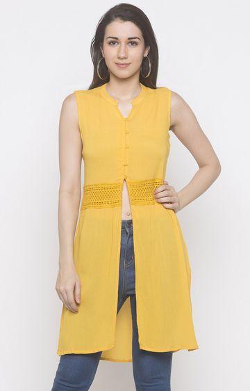 globus | Yellow Solid Tunic