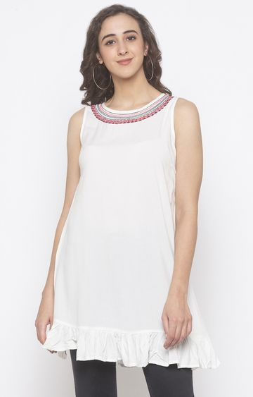 globus | Ivory Embroidered Tunic