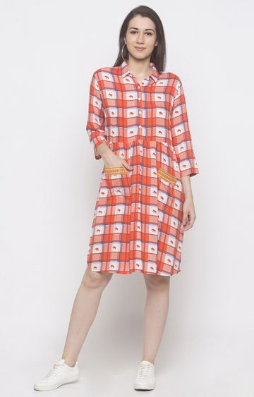 globus | Red Checked Tunic