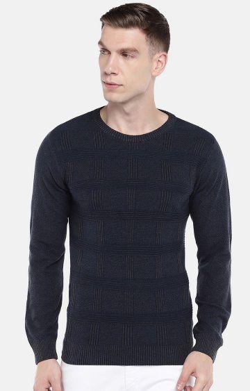 globus | Blue Checked Sweatshirt